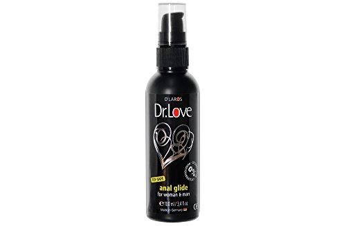 Dr.Love Anal Silikon Gleitgel for woman & man (100 ml). Das Gleitmittel auf Silikonbasis für entspannten Analverkehr. Toysafe!