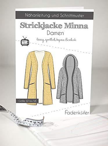 Schnittmuster und Nähanleitung - Damen Strickjacke - Minna