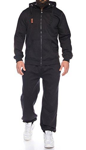 Finchman Finchsuit 1 Herren Jogging Anzug Trainingsanzug Sportanzug FMJS135, Black, S