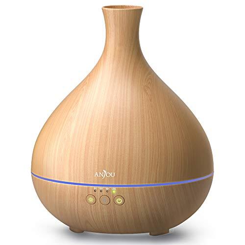 Anjou Aroma Diffuser 500ml Diffusor Ultraschall Luftbefeuchter Duftlampen für ätherische öle patentiertem Ölflusssystem BPA-Free Raumbefeuchter für Schlafzimmer Sport Fitness Aromatherapie Raum Büro