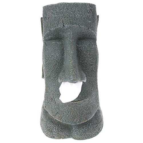 Rotary Hero - Moai Taschentuchbox/Taschentuchspender/Kosmetiktücherbox - 19x18x31.5 cm