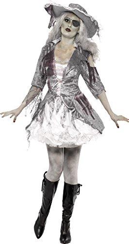 Halloween! Smiffys Kostüm Geisterschiff Piratenschatz, Grau, mit Kleid und Hut