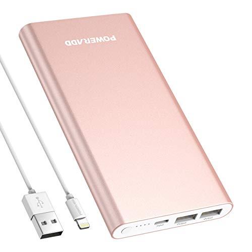 POWERADD Pilot 4GS 12000mAh Externer Akku Powerbank für iPhone Handy Ladegerät speziell für iPhone 11, 8, X, XS, 7, 7 Plus, 6, 6 Plus, 6s, 5, 5s, 5c, SE