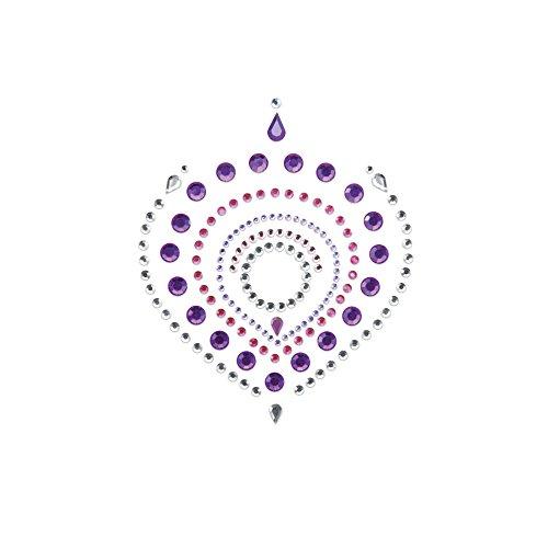 Bijoux Indiscrets - Flamboyant - aufklebbarer Koerperschmuck (Brust und Intimbereich) lila und pink