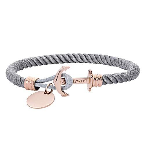 PAUL HEWITT Anker Armband PHREP Lite mit der Option Einer individuellen Wunschgravur - Nylon Armband mit Anker Schmuck aus Edelstahl