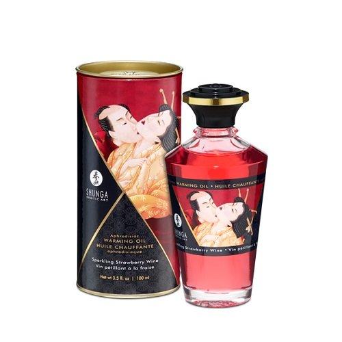 SHUNGA 340000091818 Intimate Kisses, Massageöl Strawberry/Champagne, 100ml