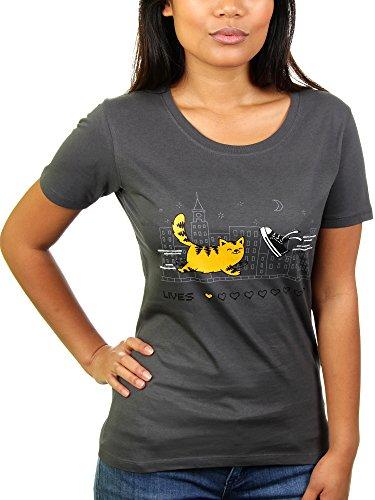 Die neun Leben der Katze - Damen T-Shirt von KaterLikoli