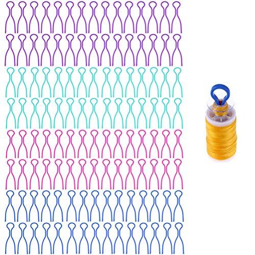 XM-Amigo Garnspulenhalter, Nähmaschinen-Zubehör für Garnspulen, 30 Stück x 4 Farben, 120 Stück