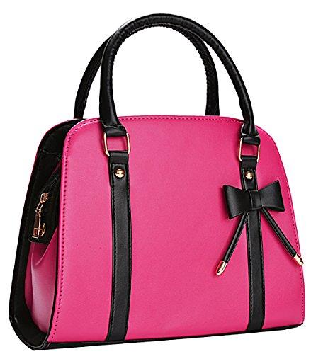 Damentasche,Coofit Handtasche Damen Leder Handtasche Schultertasche Rockabilly Tasche Handtasche Elegant