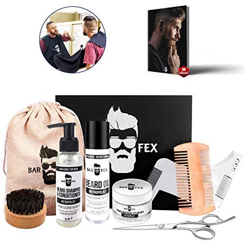 Hochwertiges Bartpflegeset von BarFex ● Pflegeprodukte Made in Germany ● Geschenk für Männer mit Bart ● Kostenlose Bartpflegeanleitung