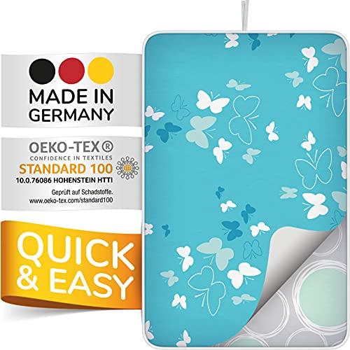 smart&gentle Made in Germany Bügelmatte für Dampfbügeleisen 100x65cm - rutschfeste Bügelunterlage für Tisch, Bügeldecke für Tisch mit Hitze- und Feuchtigkeitsschutz