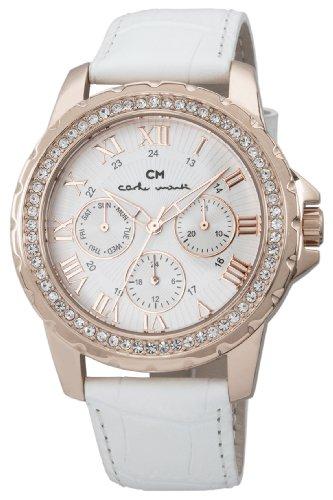 Carlo Monti Armbanduhr für Damen mit Analog Anzeige, Quarz-Uhr und Lederarmband - Wasserdichte Damenuhr mit zeitlosem, schickem Design - klassische, elegante Uhr für Frauen - CM600-316 Catania