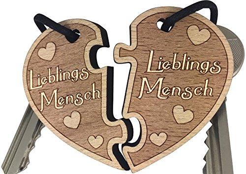 Schlüsselanhänger Lieblingsmensch für Paare - Geschenk für Frauen Männer Geschenkidee Partner Freundin