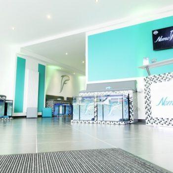 Nemo Fish Spa Köln Eingangsbereich | Mein Erfahrungsberícht über ein tierisches Pediküre Erlebnis. Fish Spa Peeling - Entspannung für die Füße und Seele