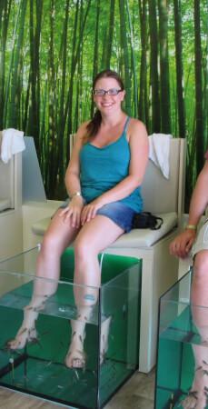 Erfahrungsberícht Fish Spa Peeling Entspannung für die Füße