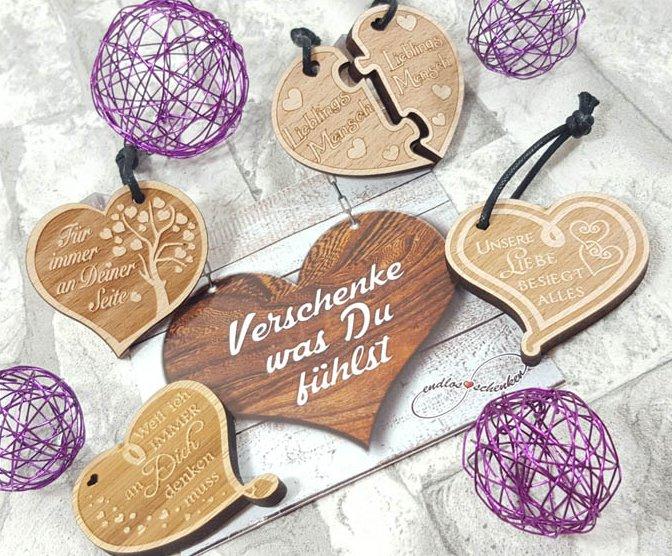 Produkttest Valentinstag Geschenke Schlüsselanhänger Holz