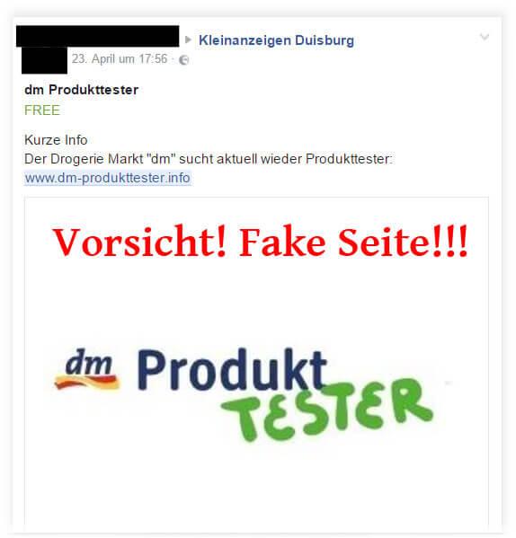 Warnung vor dm Produkttester App | Das dm Produkttester Programm hat keine App. Du lädst dir mit dieser App einen Trojaner auf dein Smartphone, wodurch du Schäden durch Drittanbieterleistungen erhalten kannst.