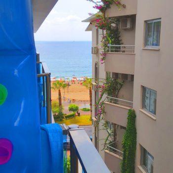 bescheidener Meerblick aus dem Kleopatra Life Hotel   Ist ein Urlaub in der Türkei gefährlich oder trotzdem schön?!