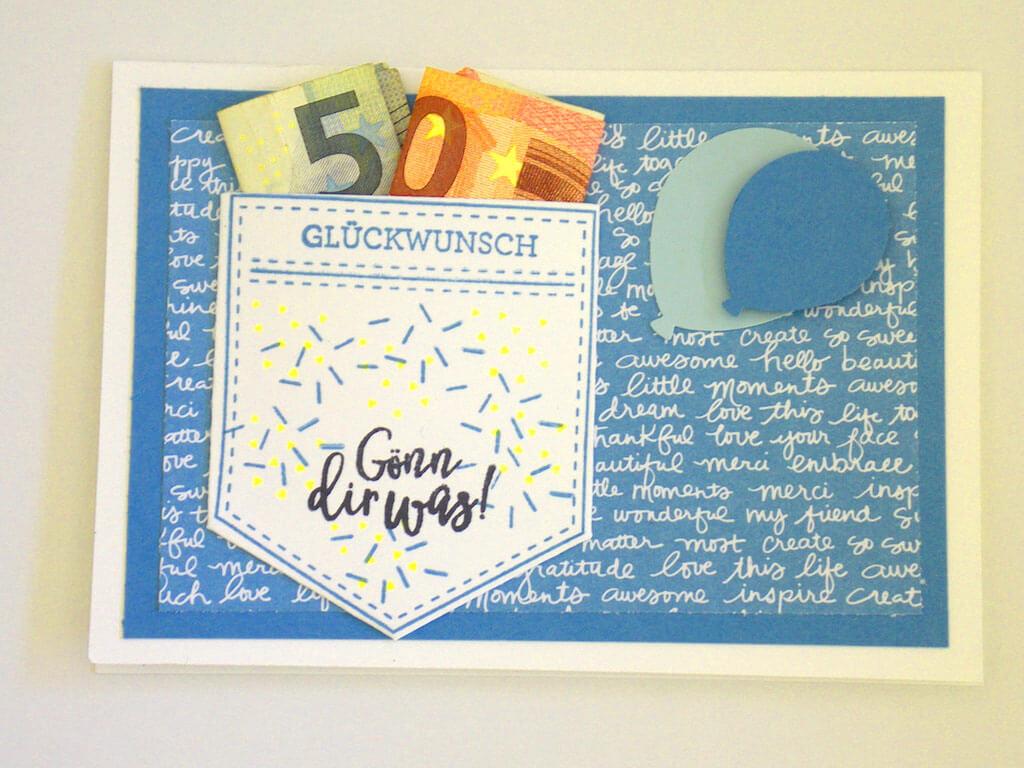 Diy Gluckwunschkarte Fur Geldgeschenke Das Fraulein Wunder